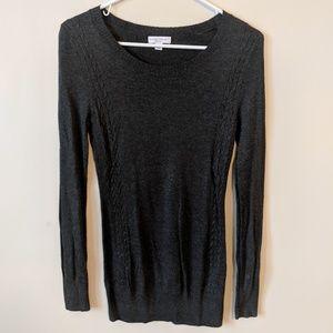 Grey Maternity Knit Sweater